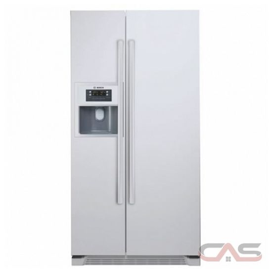 bosch b20cs50snw counter depth side by side refrigerator with cu. Black Bedroom Furniture Sets. Home Design Ideas