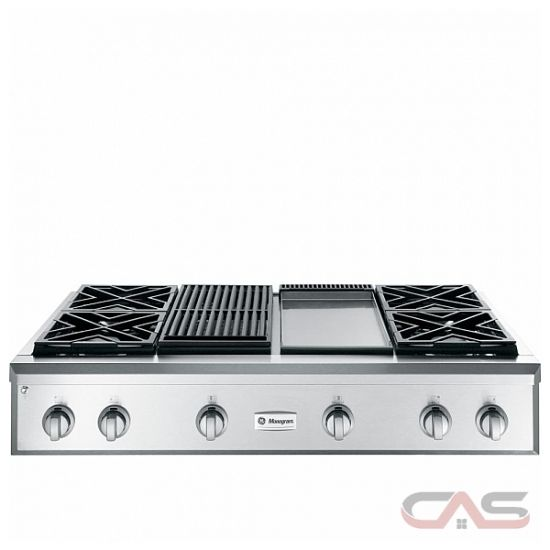 monogram zgu484ngpss rangetop gas cooktop 48 inch 4 burners