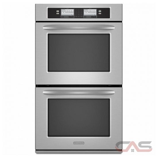 kitchen aid kebu208sss double wall oven 30in 8 6 cu ft