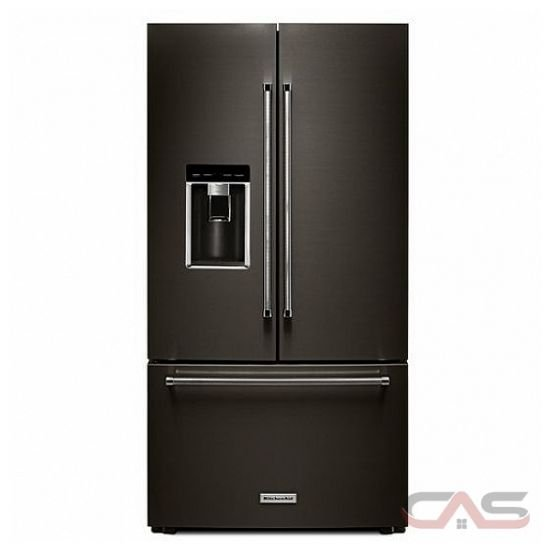 "Jenn Air French Door Counter Depth Refrigerator KitchenAid KRFC704FBS French Door Refrigerator, 36"" Width ..."