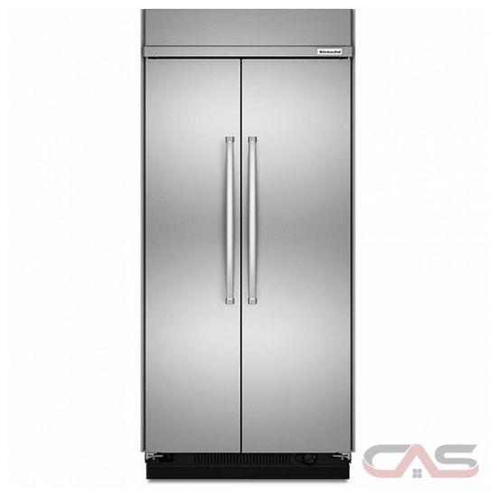 kitchenaid kbsn602ess side by side refrigerator 42 width freezer