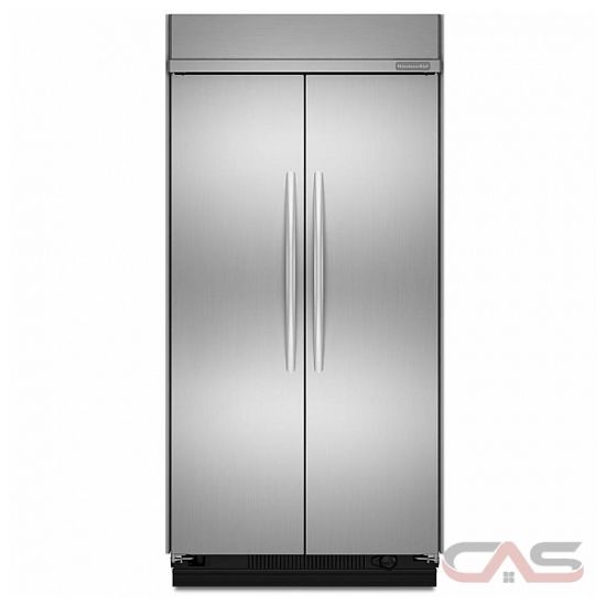 kitchen aid kssc48fts built in side by side refrigerator