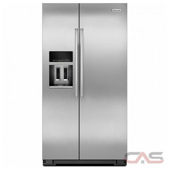 kitchenaid krsc500ess side by side refrigerator 36 width