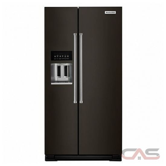 kitchenaid krsc503ebs side by side refrigerator 36 width