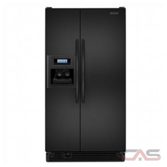 kitchen aid ksrv22fvbl side by side refrigerator 33in 21