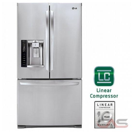 Lg Lfx28968st French Door Refrigerator 36 Quot Width Thru