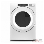 Amana YNED5800HW, 27 Width, Electric Dryer, 7.4 Capacity, 12 Dry Cycles, 4 Temperature Settings, Stackable, Steel Drum, White colour