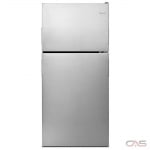 Amana ART318FFDS Top Mount Refrigerator, 30 Width, 18.2 Capacity, Interior Light (Refrigerator), Stainless Steel colour