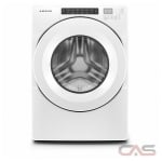 "Amana NFW5800HW Front Load Washer, 27"" Width, 5.0 cu. ft. Capacity, 14 Wash Cycles, 4 Temperature Settings, Stackable, 1200 RPM Washer Spin Speed, ENERGY STAR Certified, White colour"