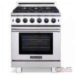 "American Range ARR530 Cuisine range with 5 sealed gas burners, 30"" convection oven with infrared gas broiler."