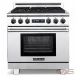 American Range ARR366DFLP Range, Dual Fuel Range, 36 inch, Self Clean, Convection, 6 Burners, Sealed Burners (Gas), 5.3 cubic ft, Free Standing, Stainless Steel colour
