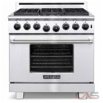 American Range ARR366LP Range, Gas Range, 36 inch, 6 Burners, Sealed Burners (Gas), 5.3 cubic ft, Free Standing, Stainless Steel colour
