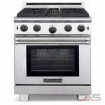 American Range ARROB430LP Range, Gas Range, 30 inch, Convection, 4 Burners, Open Burners (Gas), 4.4 cubic ft, Free Standing, Stainless Steel colour