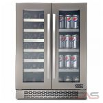 AVG VPC42DS Under Counter Wine Refrigeration, 24 Width, Free Standing & Built In, 21 Wine Bottle Capacity, Stainless Steel colour