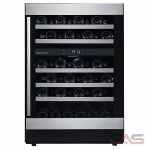 AVG MVP46DS Under Counter Wine Refrigeration, 24 Width, Free Standing & Built In, 46 Wine Bottle Capacity, Stainless Steel colour