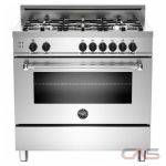 Bertazzoni MAS365GASXE Range, Gas Range, 36 inch, Convection, 5 Burners, Sealed Burners (Gas), 4.4 cubic ft, Free Standing, Natural Gas Unit colour