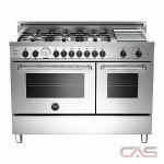 Bertazzoni MAS486GGASXT Range, Gas Range, 48 inch, Convection, 6 Burners, Sealed Burners (Gas), Storage Drawer, 5.8 cubic ft, Free Standing, Natural Gas Unit colour