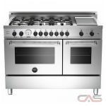 Bertazzoni MAS486GGASXTLP Range, Gas Range, 48 inch, Convection, 6 Burners, Sealed Burners (Gas), Storage Drawer, 5.8 cubic ft, Free Standing, Liquid Propane Unit colour