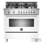 Bertazzoni PRO366GASBI Range, Gas Range, 36 inch, Convection, 6 Burners, Sealed Burners (Gas), Storage Drawer, 4.4 cubic ft, Free Standing, White colour
