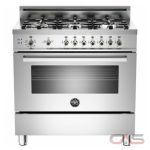 Bertazzoni PRO366GASX Range, Gas Range, 36 inch, Convection, 6 Burners, Sealed Burners (Gas), Storage Drawer, 4.4 cubic ft, Free Standing, Stainless Steel colour