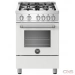 Bertazzoni MAST244GASBIE Range, Gas Range, 24 Exterior Width, Convection, 4 Burners, Sealed Burners (Gas), Storage Drawer, 2.4 Capacity, 1 Ovens, Free Standing, 19K, Matte White colour