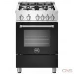 Bertazzoni MAST244GASNEE Range, Gas Range, 24 Exterior Width, Convection, 4 Burners, Sealed Burners (Gas), Storage Drawer, 2.4 Capacity, 1 Ovens, Free Standing, 19K, Matte Black colour