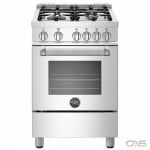 Bertazzoni MAST244GASXE Range, Gas Range, 24 Exterior Width, Convection, 4 Burners, Sealed Burners (Gas), Storage Drawer, 2.4 Capacity, 1 Ovens, Free Standing, 19K, Stainless Steel colour