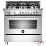 Bertazzoni PRO365GASXLPFR Range, Gas Range, 36 inch, Convection, 6 Burners, Sealed Burners (Gas), Storage Drawer, 4.4 cubic ft, Free Standing, Stainless Steel colour