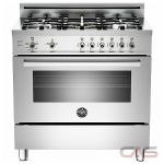 Bertazzoni PRO365GASXVFRLP Range, Gas Range, 36 inch, Convection, 5 Burners, Sealed Burners (Gas), Storage Drawer, 4.4 cubic ft, Free Standing, Stainless Steel colour