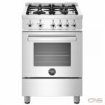 Bertazzoni PROF244GASXE Range, Gas Range, 24 Exterior Width, Convection, 4 Burners, Sealed Burners (Gas), 2.4 Capacity, 1 Ovens, Free Standing, 19K, Stainless Steel colour