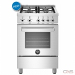 Bertazzoni PROF244GASX Range, Gas Range, 24 Exterior Width, Convection, 4 Burners, Sealed Burners (Gas), 2.4 Capacity, 1 Ovens, Free Standing, 19K, Stainless Steel colour