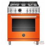 Bertazzoni PROF304DFSART Range, Dual Fuel Range, 30 Exterior Width, Self Clean, Convection, 4 Burners, Sealed Burners (Gas), 4.6 Capacity, 1 Ovens, Free Standing, 19K, Arancio Orange colour