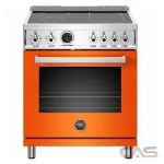 Bertazzoni PROF304INSART Range, Electric Range, 30 Exterior Width, Self Clean, Convection, 4 Burners, Induction Elements, 4.7 Capacity, 1 Ovens, Free Standing, 3700W, Arancio Orange colour