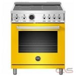Bertazzoni PROF304INSGIT Range, Electric Range, 30 Exterior Width, Self Clean, Convection, 4 Burners, Induction Elements, 4.7 Capacity, 1 Ovens, Free Standing, 3700W, Giallo Yellow colour