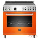 Bertazzoni PROF365INSART Range, Electric Range, 36 Exterior Width, Self Clean, Convection, 5 Burners, Induction Elements, 5.7 Capacity, 1 Ovens, Free Standing, 3700W, Arancio Orange colour