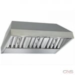 Best CP35I429SB Cabinet Insert, 42 Exterior Width, Canopy, Outside / Ducting, Halogen, 600 CFM, Baffle Filter, Stainless Steel colour Blower Included