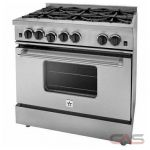 Blue Star RPB366BV2 Range, Gas Range, 36'' Exterior Width, Convection, 6 Burners, Open Burners (Gas), 5.0 cubic ft, Free Standing, 18K