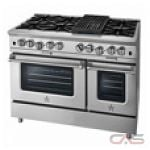Blue Star BSP488B Range, Gas Range, 48'' Exterior Width, Convection, 8 Burners, Open Burners (Gas), 4.5 cubic ft, 2 Ovens, Free Standing, 25K