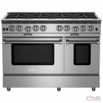 BlueStar BSP488B Range, Gas Range, 48 Exterior Width, Convection, 8 Burners, Open Burners (Gas), 4.5 cu. ft. Capacity, 2 Ovens, Free Standing, 25K BTU, Stainless Steel colour