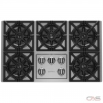 BlueStar RBCT365BSSV2 Cooktop, Gas Cooktop, 36 inch, 5 Burners, 22K BTU, Stainless Steel colour