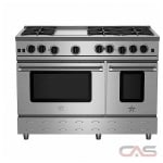 Blue Star RNB486GV2 Range, Gas Range, 48'' Exterior Width, Convection, 6 Burners, Open Burners (Gas), 4.5 cubic ft, 2 Ovens, Free Standing, 22K