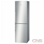Bosch 500 Series B11CB50SSS Bottom Mount Refrigerator, 24 Width, 11.0 cu. ft. Capacity, Counter Depth, LED Lighting, Stainless Steel colour