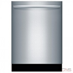 Bosch 800 Series SGX68U55UC Built-In Undercounter Dishwasher, 24 Exterior Width, 6 Wash Cycles, Stainless Steel (Interior), 3 Loading Racks, Fully Integrated, 15 Capacity (Place Settings), 44 dB Decibel Level, Stainless Steel colour