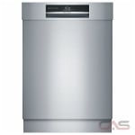 Bosch Benchmark Series SHE89PW75N Built-In Undercounter Dishwasher, 24 Exterior Width, 7 Wash Cycles, Stainless Steel (Interior), 3 Loading Racks, Fully Integrated, 15 Capacity (Place Settings), 38 dB Decibel Level, Stainless Steel colour