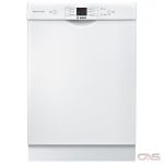 Bosch 100 Series SHEM3AY52N Built-In Undercounter Dishwasher, 24 Exterior Width, 6 Wash Cycles, 2 Loading Racks, Full Console, 14 Capacity (Place Settings), 50 dB Decibel Level, White colour