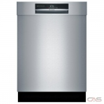Bosch 800 Series SHEM78WH5N Built-In Undercounter Dishwasher, 24 Exterior Width, 6 Wash Cycles, Stainless Steel (Interior), 3 Loading Racks, Full Console, 16 Capacity (Place Settings), 42 Decibel Level, Stainless Steel colour