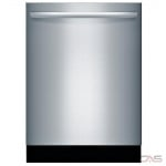 Bosch 100 Series SHX3AR75UC Built-In Undercounter Dishwasher, 24 Exterior Width, 6 Wash Cycles, 2 Loading Racks, Fully Integrated, 14 Capacity (Place Settings), 50 dB Decibel Level, Stainless Steel colour