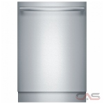 Bosch Benchmark Series SHX89PW75N Built-In Undercounter Dishwasher, 24 Exterior Width, 7 Wash Cycles, Stainless Steel (Interior), 3 Loading Racks, Fully Integrated, 15 Capacity (Place Settings), 38 dB Decibel Level, Stainless Steel colour