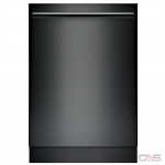 Bosch 100 Series SHXM4AY56N Built-In Undercounter Dishwasher, 24 Exterior Width, 5 Wash Cycles, Stainless Steel (Interior), 3 Loading Racks, Fully Integrated, 15 Capacity (Place Settings), 48 dB Decibel Level, Black colour
