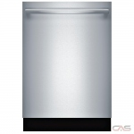 Bosch 800 Series SHXM98W75N Built-In Undercounter Dishwasher, 24 Exterior Width, 6 Wash Cycles, Stainless Steel (Interior), 3 Loading Racks, Fully Integrated, 16 Capacity (Place Settings), 39 dB, Stainless Steel colour